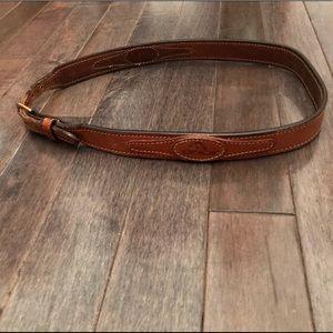 Groovy vintage Jordache thin leather belt!